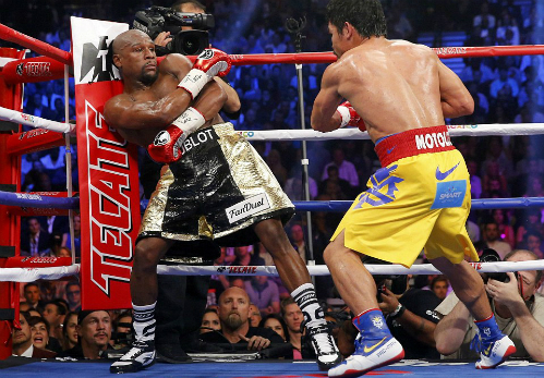 Pacquiao: 'Mayweather không làm gì cả, chỉ biết chạy'